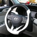 벨로 블랙 가죽핸들커버 전차종공용 실내 자동차용품