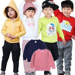 쥬스토리 아동 겨울 기모 상하복 실내복세트 팬츠