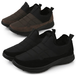 남성 패딩 퍼슬립온 겨울털신발 따뜻한신발 방한화