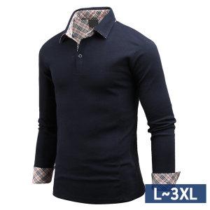 남성 카라티셔츠 클래식한 체크 남자 티셔츠