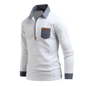 남자 카라티셔츠 데님배색 카라티 남성 티셔츠 ts2288