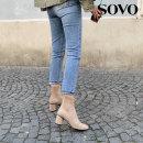 에그라인 스판삭스 여성앵클부츠 (6cm)