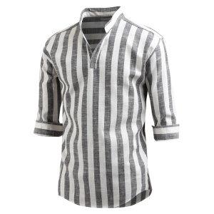 남자 7부 셔츠 스파클 헨리넥 남방 와이셔츠 _sh2174
