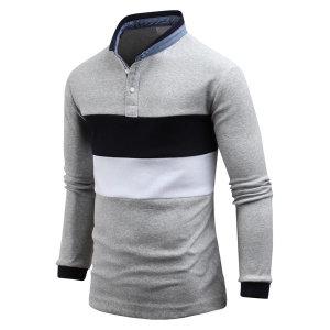 남자 티셔츠 긴팔 젠틀한 차이나 카라티셔츠 ts3977