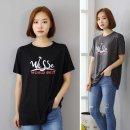 18012TS-월드5부 티셔츠 /프린트티 /라운드티