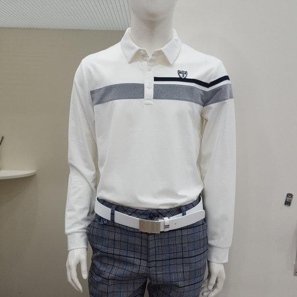 제이디엑스  모다아울렛 남성 절개배색포인트제에리티셔츠(X2QWTLM43 OW)