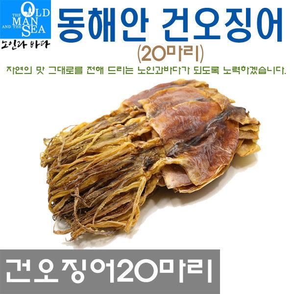 동해안건오징어20마리(한축)750~800g이내