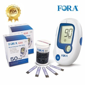 FDA인증 유진포라 혈당계 +시험지100+침100+솜100+수첩