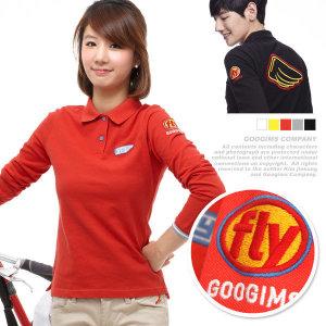 구김스 184_ 플라이 날개 긴팔 피케 티셔츠 (G11FMKT901)