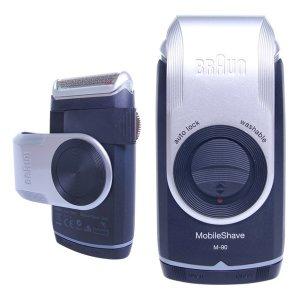 브라운 M90 건전지식 면도기 세척가능 트리머 휴대용