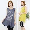 19009TS-스토리나시 티셔츠 /프린트티/민소매티/나시