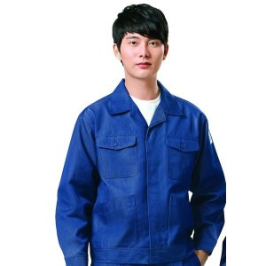 경신 KSK-14 춘추작업복 근무복 상의 블루 단추형