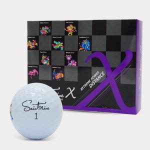 세인트나인/ X 골프공(3PCS) / 화이트(12알)/ 세인트나인