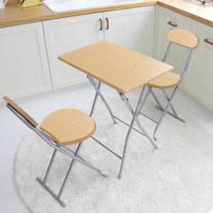 접이식 식탁 등받이 의자세트 간이보조 티테이블 탁자