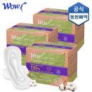 와우 유기농 생리대 슈퍼롱 오버나이트 6P X 3팩