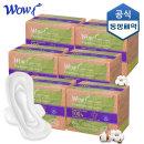 와우 유기농 생리대 슈퍼롱 오버나이트 6P X 6팩