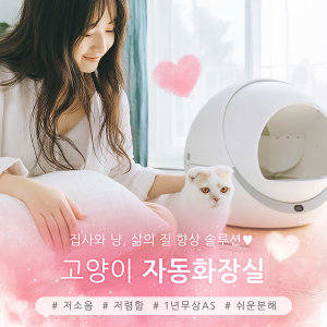 펫트리 petree 고양이 자동 화장실 추천 1년 무상AS