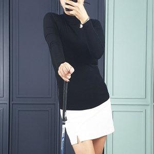 셀리나 스판 기본 여성 골프웨어 목폴라 티셔츠 7컬러