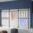 5단 스크류 행거 옷걸이 옷 헹거 드레스룸 시스템 블랙