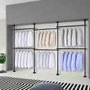 6단 스크류 행거 옷걸이 옷 헹거 드레스룸 시스템 블랙