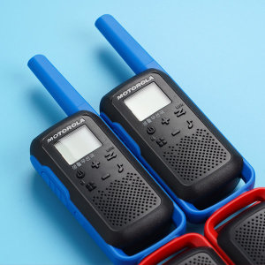 모토로라 T62 생활무전기 블루 색상