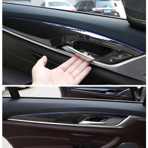 BMW G30 5시리즈 실내 도어 패널 카본 크롬4pc 00084