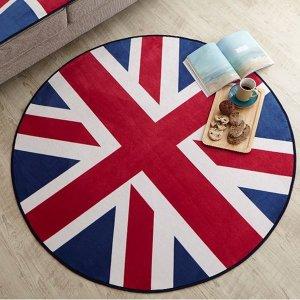 영국국기 150x150 원형러그 카페트 인테리어카페트