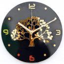 황금나무 벽시계 블랙 무소음 인테리어 벽걸이시계