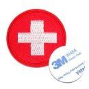 구급 원 자수 마크-적십자 응급 구조 대원 구급함