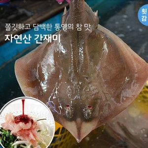 통영 자연산 간재미 1kg(횟감 매운탕용 생물손질)산지