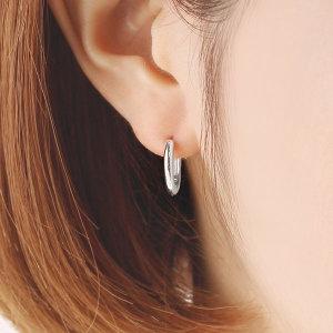(신세계김해점)베이직 볼드 15mm 실버 링 귀걸이 OTE117B15NSS