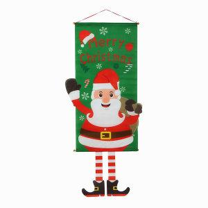 트레이드원 크리스마스장식 벽걸이 산타 가랜드