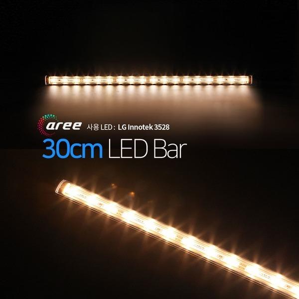 진열장 간접조명 LG칩 12V LED바 30cm_투명/전구색