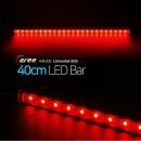 진열장 간접조명 LG칩 12V LED바 40cm_투명/빨강