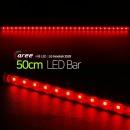 진열장 간접조명 LG칩 12V LED바 50cm_투명/빨강