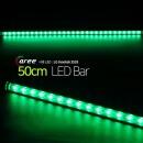 진열장 간접조명 LG칩 12V LED바 50cm_투명/녹색
