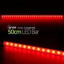 진열장 간접조명 LG칩 12V LED바 50cm_불투명/빨강