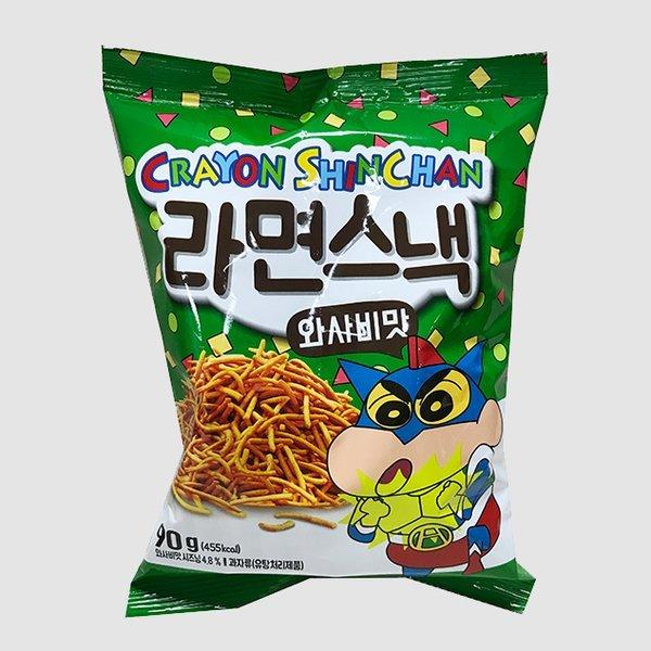 크레용 신짱 라면스낵 와사비맛 90G