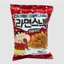 효성인터내셔널 크레용 신짱 라면스낵 바베큐맛 90G