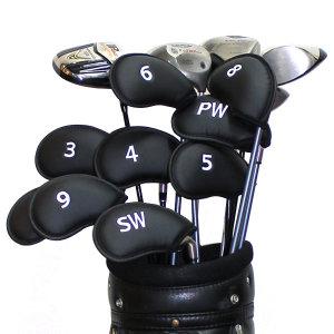 골프채커버 골프 클럽헤드커버 아이언커버세트 블랙