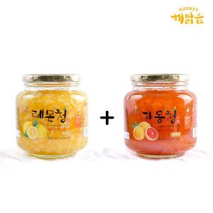 새콤달콤 레몬청+자몽청_과일청1+1 홈메이드방식