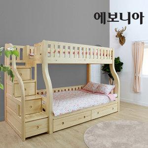 캐슬 이층침대/계단수납형/매트선택/2층침대