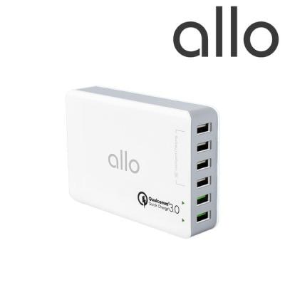 [알로코리아] 6포트 퀵차지3.0 고속 급속 멀티 충전기 UC601QC3.0