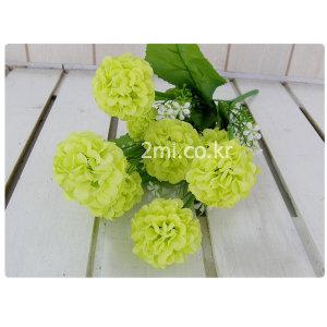 수국 -소-연두 조화 꽃 ( 인테리어 장식 소품 인조꽃
