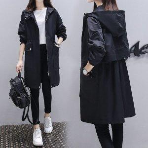여성 야상 코트 자켓 아우터 후드 점퍼 루즈핏 hl68