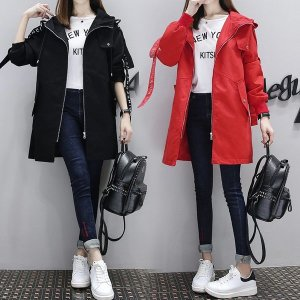 여성 야상 코트 자켓 아우터 후드 점퍼 루즈핏 hl79
