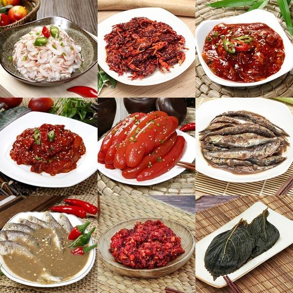 강경진주상회 젓갈 40종 쌈젓 새우젓 특오징어 명란젓