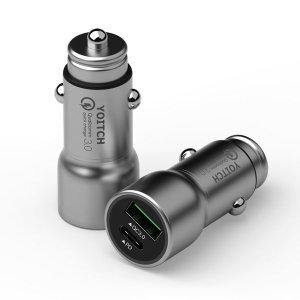 차량용 USB PD 듀얼포트 고속 충전기 퀵차지 3.0 비숍