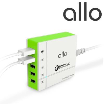 [알로코리아] 5포트 퀵차지3.0 고속 급속멀티 충전기 핸드폰 휴대폰