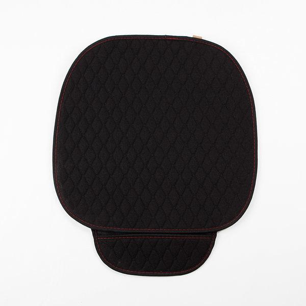 자동차 의자 시트 방석 (싱글) (블랙) 차량용 방석